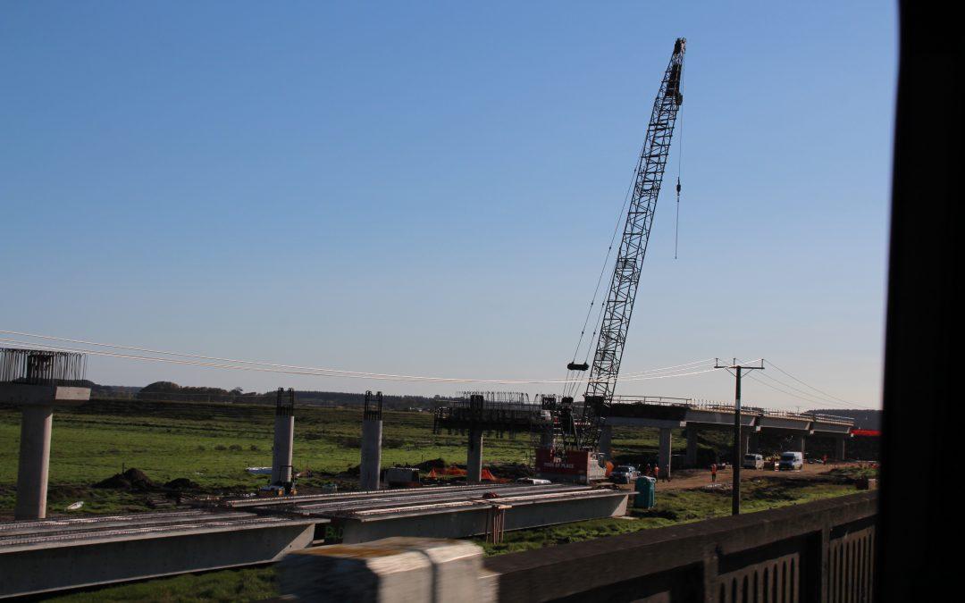 KLONK at new Whirokino Trestle Bridge